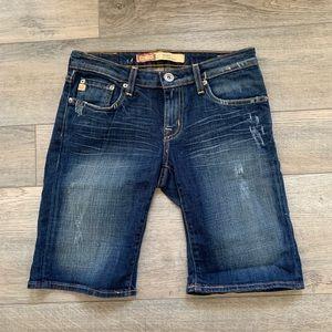 Big Star Alexa low rise shorts size 26 distressed